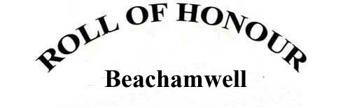 BEACHAMWELL ROLL OF HONOUR