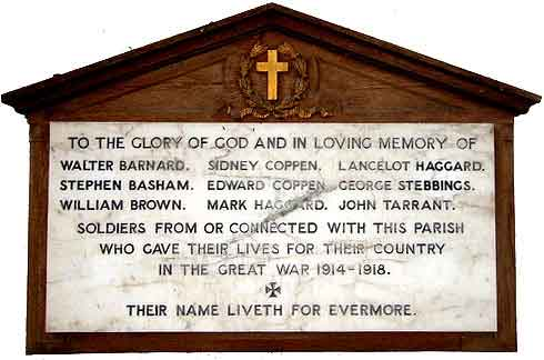 West Bradenham War Memorial