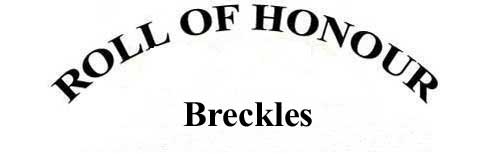 BRECKLES ROLL OF HONOUR