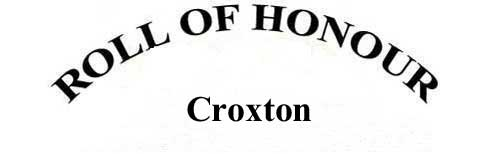 CROXTON ROLL OF HONOUR