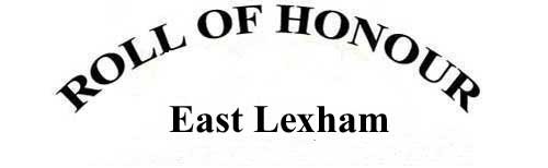 EAST LEXHAM ROLL OF HONOUR