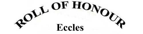 ECCLES ROLL OF HONOUR
