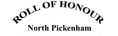 NORTH PICKENHAM ROLL OF HONOUR