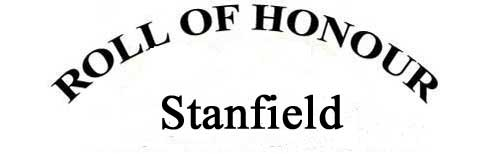 STANFIELD ROLL OF HONOUR