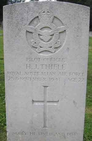 Pilot Officer HERBERT JOHN THIELE